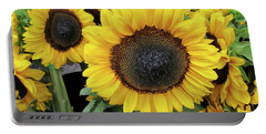 Portable Battery Charger featuring the photograph Sunflowers by Melinda Saminski