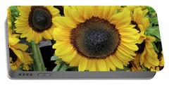 Sunflowers Portable Battery Charger by Melinda Saminski
