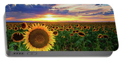 Sunflowers Of Golden Hour Portable Battery Charger
