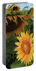 Sunflowers Past And Present Portable Battery Charger