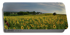 Sunflowers, People, And Pictures 2 Portable Battery Charger