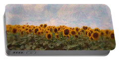 Portable Battery Charger featuring the photograph Sunflowers by Robin Regan