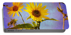 Portable Battery Charger featuring the photograph Sunflowers - The Arrival by Glenn McCarthy Art and Photography