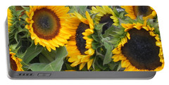 Sunflowers Two Portable Battery Charger by Chrisann Ellis