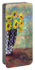 Sunflowers Warmth Portable Battery Charger by Haleh Mahbod