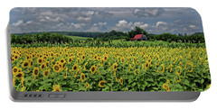 Sunflowers With Barn Portable Battery Charger