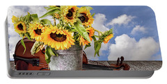 Sunflowers With Violin Portable Battery Charger