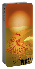 Portable Battery Charger featuring the digital art Sungazing by Eleni Mac Synodinos