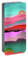 Portable Battery Charger featuring the digital art Sunland 3 by Mary Armstrong