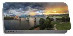 Sunlight And Showers Over Chattanooga Portable Battery Charger