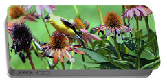 Sunlight On An American Gold Finch Portable Battery Charger