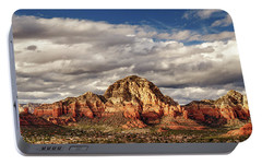 Portable Battery Charger featuring the photograph Sunlight On Sedona by James Eddy
