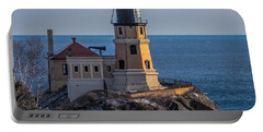Sunlight On Split Rock Lighthouse Portable Battery Charger by Paul Freidlund