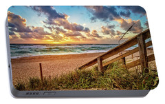 Portable Battery Charger featuring the photograph Sunlight On The Sand by Debra and Dave Vanderlaan