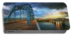 Sunlight Thru Rain Over Chattanooga Portable Battery Charger