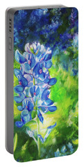 Sunlit Bluebonnet Portable Battery Charger