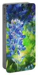Sunlit Bluebonnet Portable Battery Charger by Karen Kennedy Chatham