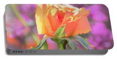 Sunlit Rose Portable Battery Charger by Debby Pueschel