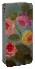 Sunlit Roses Portable Battery Charger