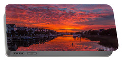 Sunlit Sky Over Morgan Creek -  Wild Dunes On The Isle Of Palms Portable Battery Charger