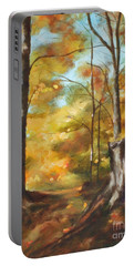 Sunlit Tree Trunk Portable Battery Charger
