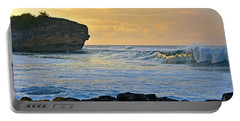 Sunlit Waves - Kauai Dawn Portable Battery Charger by Marie Hicks