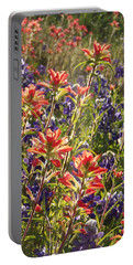 Sunlit Wild Flowers Portable Battery Charger