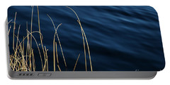 Portable Battery Charger featuring the photograph Sunlt Grass Straws In Blue Water by Kennerth and Birgitta Kullman