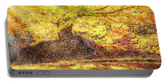 Sunny Afternoon On Autumn Hill Portable Battery Charger
