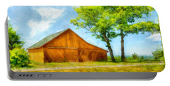 Sunny Barn And Trees Portable Battery Charger