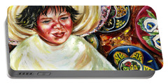 Portable Battery Charger featuring the painting Sunny Day by Hiroko Sakai