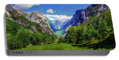 Portable Battery Charger featuring the photograph Sunny Day In Naroydalen Valley by Dmytro Korol