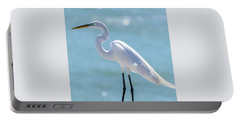 Portable Battery Charger featuring the photograph Sunny Egret by Steven Sparks