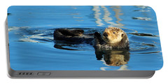 Sunny Faced Sea Otter Portable Battery Charger