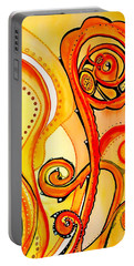 Portable Battery Charger featuring the painting Sunny Flower - Art By Dora Hathazi Mendes by Dora Hathazi Mendes