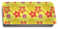 Sunny Flowers Portable Battery Charger