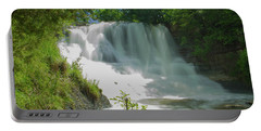 Sunny Flowing Falls Portable Battery Charger by Shelly Gunderson