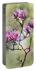 Sunny Impression With Pink Magnolias Portable Battery Charger