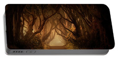 Sunny Morning In Dark Hedges Portable Battery Charger by Jaroslaw Blaminsky