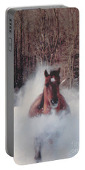 Portable Battery Charger featuring the photograph Sunny Running For The Barn. by Jeffrey Koss