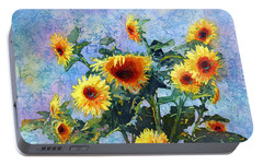 Portable Battery Charger featuring the painting Sunny Sundance by Hailey E Herrera