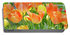 Portable Battery Charger featuring the photograph Sunny Tulips by David Lawson
