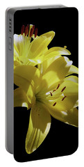 Sunny Yellow Lilies Portable Battery Charger