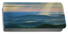 Portable Battery Charger featuring the photograph Sunrays Over The Blue Ridge Mountains by Lori Coleman