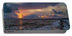Sunrays Over The Gulf Of Mexico Portable Battery Charger
