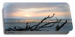 Portable Battery Charger featuring the photograph Sunrise @ Pea Island by Barbara Ann Bell