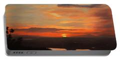 Sunrise Above Boulder Portable Battery Charger