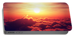 Sunrise Above The Clouds Portable Battery Charger