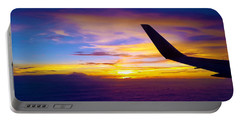 Sunrise Above The Clouds Portable Battery Charger by Judi Saunders