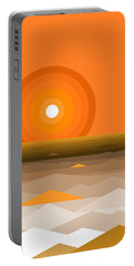 Sunrise Abstract In Orange Portable Battery Charger